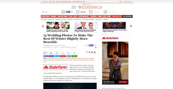 huffpost weddings feature | press