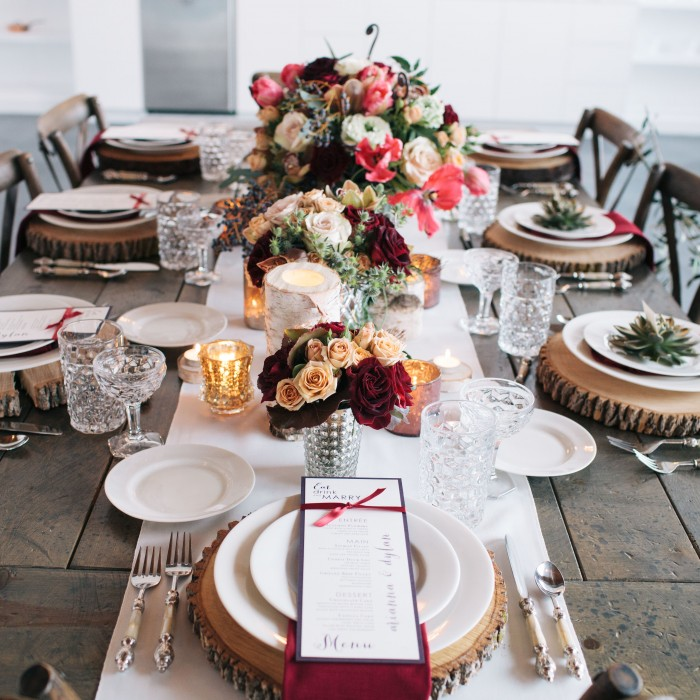 Marsala + Copper Winter Wedding