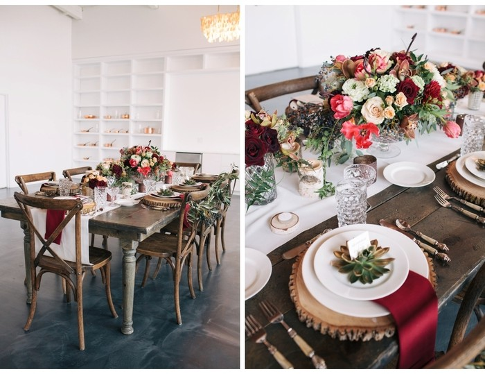 marsala and copper winter wedding  | styled shoot