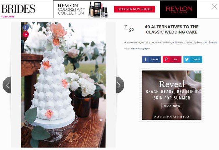brides.com | unique wedding cakes | press